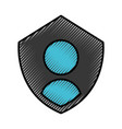 security shield with user avatar vector image vector image