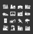 Set icons of industrial and factory vector image vector image