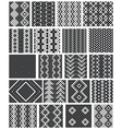 Set of 20 monochrome elegant seamless patterns vector image vector image