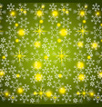 shining snow blur christmas snowflake decoration vector image