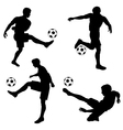 Silhouettes Football Players vector image