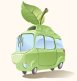 Small Eco-friendly Car vector image vector image