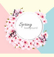 spring nature background with a pink sakura branch vector image vector image