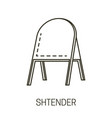 stander or shtender outdoor signboard vector image vector image
