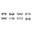 sun glasses icon set simple style vector image vector image