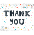 Thank you Cute greeting card with colorful vector image