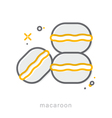 Thin line icons Macaroon vector image
