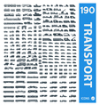 Transportation icons set of 190 icon vector image