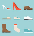 type shoes collection icon vector image vector image