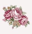vintage roses design element vector image