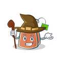 Witch tea bag character cartoon art vector image