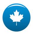 canada maple leaf icon blue vector image