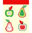 Pears and apples vector image
