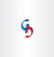 letter g and d logo icon element vector image