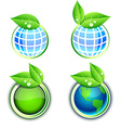 Set of ecology signs vector image