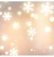 White defocused snowflakes on glow background vector image