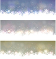 Set of abstract christmas banners vector image