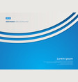 abstract background blue with white curve lines vector image vector image