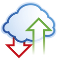 abstract cloud computing symbol vector image