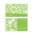 abstract green and white circles horizontal stripe vector image vector image