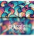abstract ornament background concept with glasses vector image