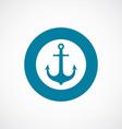 anchor icon bold blue circle border vector image vector image