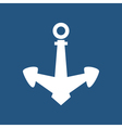 Anchor Isolated on Blue vector image vector image