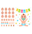 baby constructor create your newborn character vector image vector image