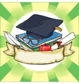Back to School label with ribbon banner vector image vector image