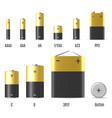 batterie set on white background vector image vector image
