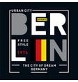 berlin images typography vector image vector image