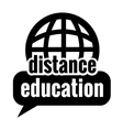 black distance education vector image vector image