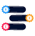 blank gears infograph modern banner vector image