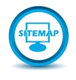 Blue sitemap icon