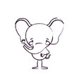 blurred silhouette caricature of cute elephant vector image vector image