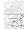 Boy maze vector image
