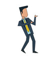 businessman with winner pose vector image