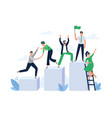 career ladder with team people office worker hold vector image