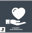 charity and donation glyph icon vector image