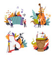 classic and folk music show musicians vector image vector image