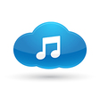 Cloud Computing Music Icon vector image vector image