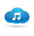 Cloud Computing Music Icon vector image