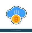 cryptocurrency cloud mining icon vector image vector image
