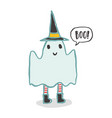 cute and funny ghost halloween character vector image vector image