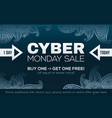 cyber monday sale fashion style banner template vector image vector image