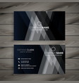 dark abstract creative business card vector image vector image