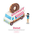 Donut conceptual isometric web banner