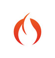 fire flame icon design template isolated vector image vector image