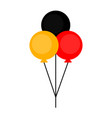 flag of germany on party balloons vector image vector image
