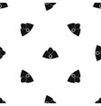 forage cap pattern seamless black vector image vector image